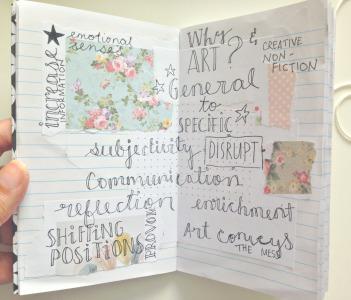 inside notebook