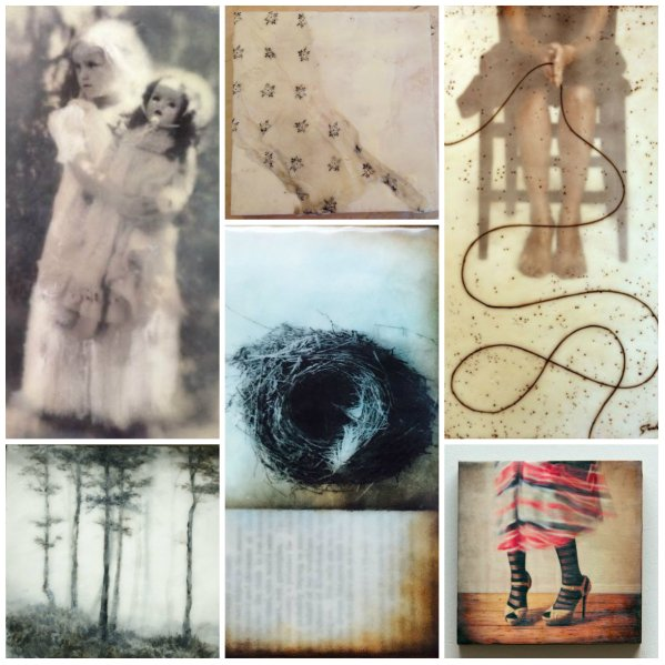 collage encaustic 2